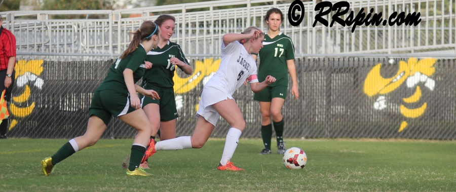 Lady Jackets soccer wins at home Monday