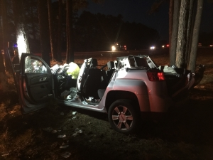 The vehicle after extrication efforts.