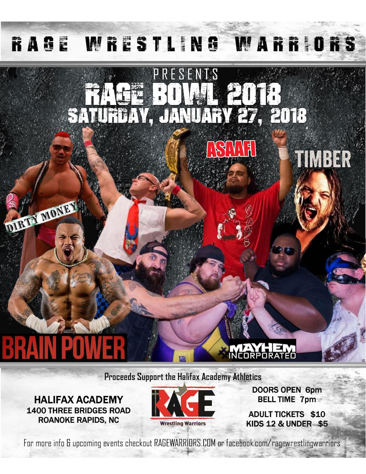 RRSpin - RAGE Wrestling event to benefit HA athletics
