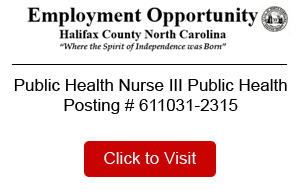 Halifax County Public Health Public Health Nurse III