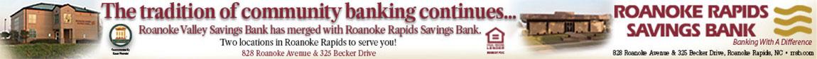 Roanoke Rapids Savings Bank Merger