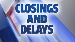 Closings and delays, Monday, October 10, 2016
