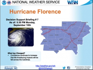 County encourages preparation as Florence continues on course