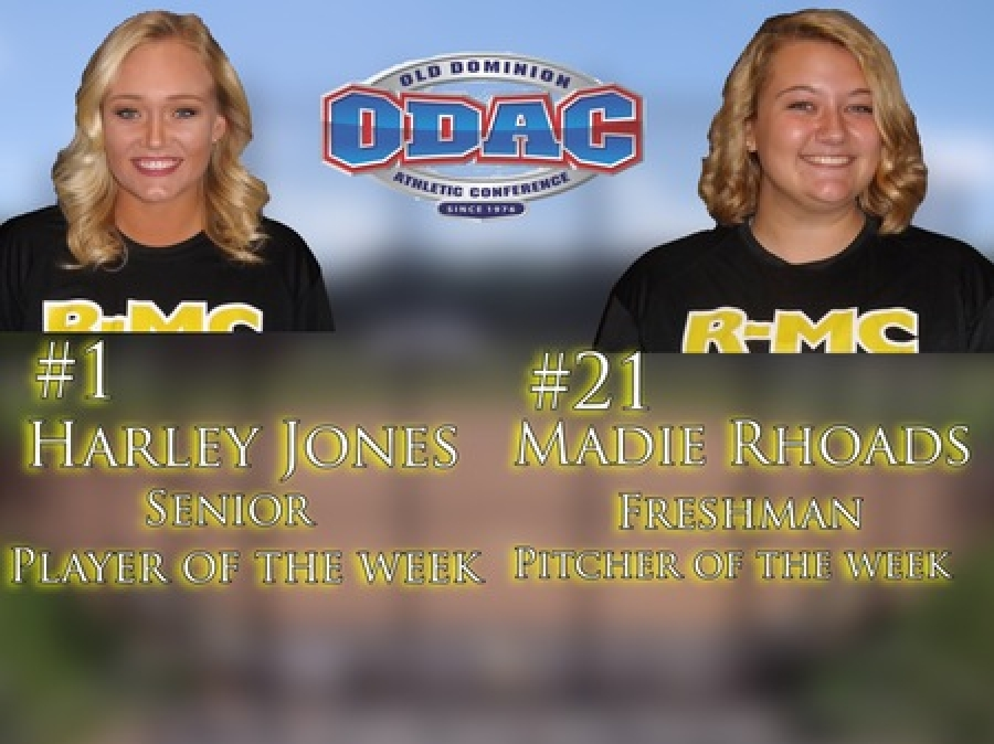 Jones named player, Rhoads named pitcher of the week in ODAC